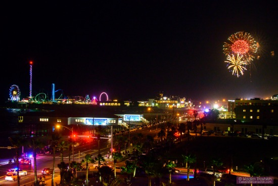 Fireworks in Galveston, TX
